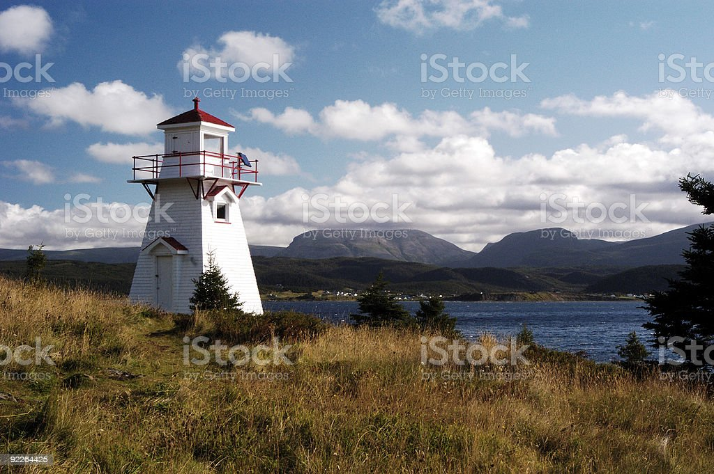 Woody Point Lighthouse stock photo