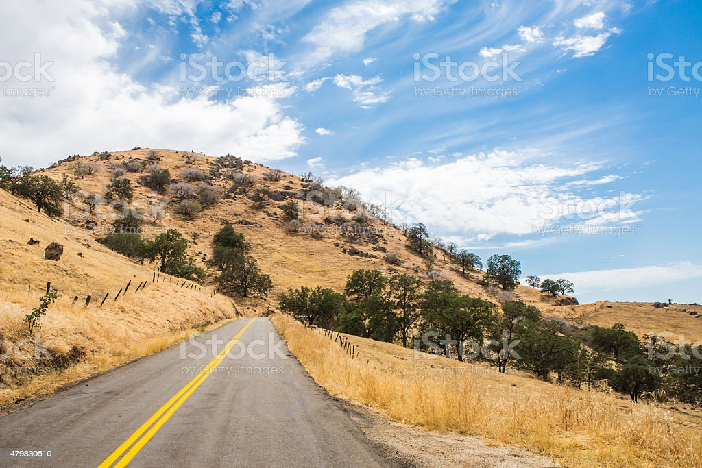 Woody Road to Bakersfield stock photo