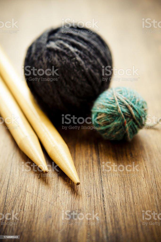 Wool And Knitting Needles royalty-free stock photo