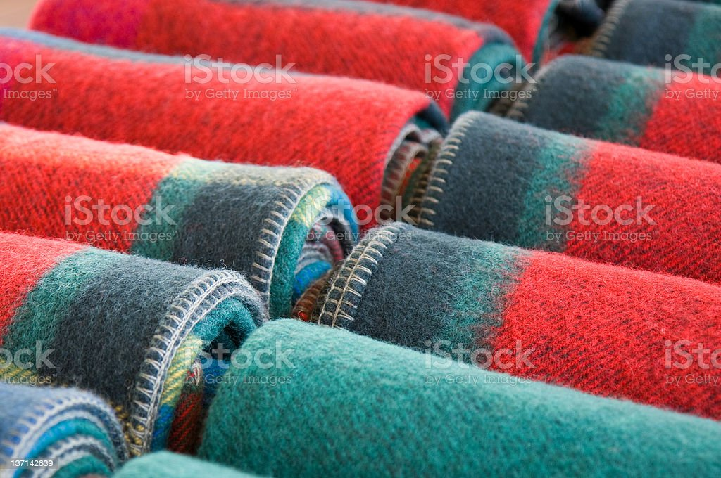 Wool Blankets royalty-free stock photo