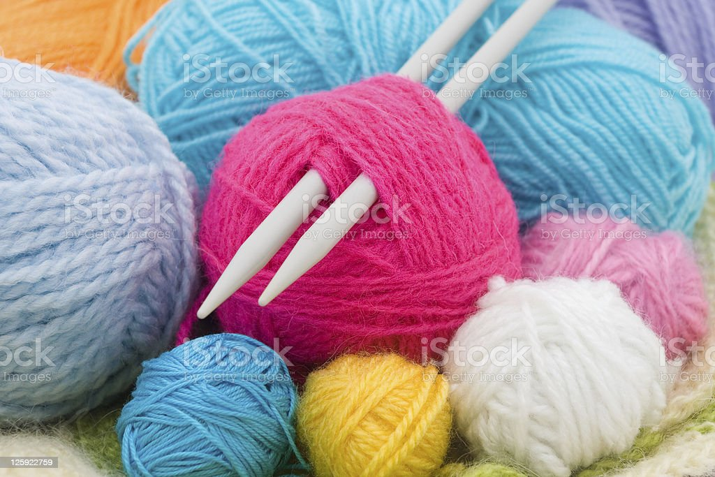 wool clews stock photo