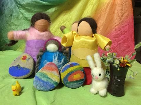 wool felt puppets