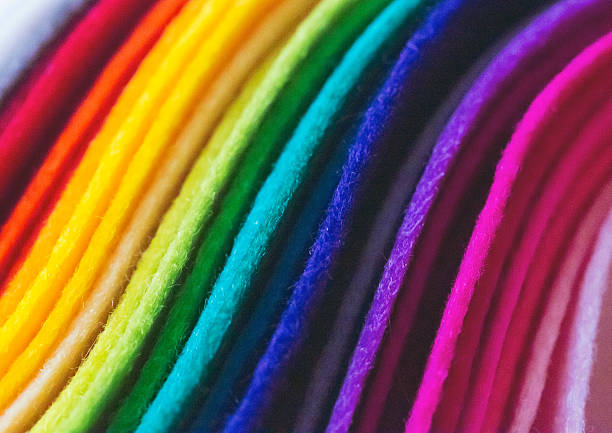 wool felts - felt textile stock pictures, royalty-free photos & images