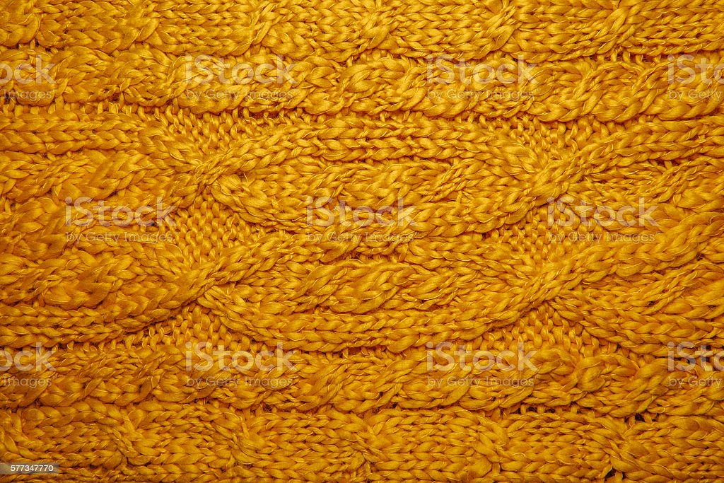 Wool hand-knitted or machine knitting pattern. stock photo