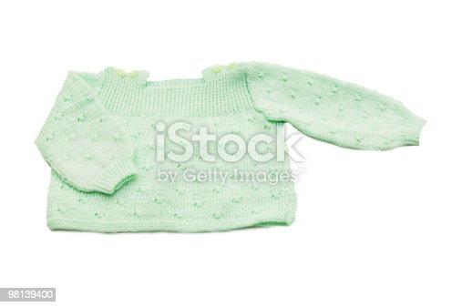 Fatti A Mano In Lana Verde Cappotto Baby - Fotografie stock e altre immagini di Abbigliamento