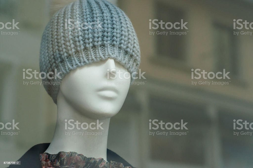 2860f415809 wool hat on mannequin in fashion store showroom royalty-free stock photo