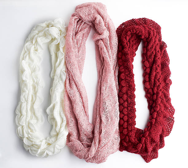 wool infinity scarves - infinity stock photos and pictures