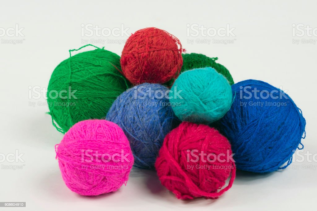 wool knickers for knitting stock photo