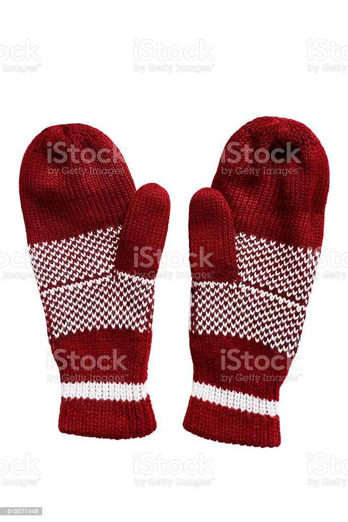 Wool mittens stock photo