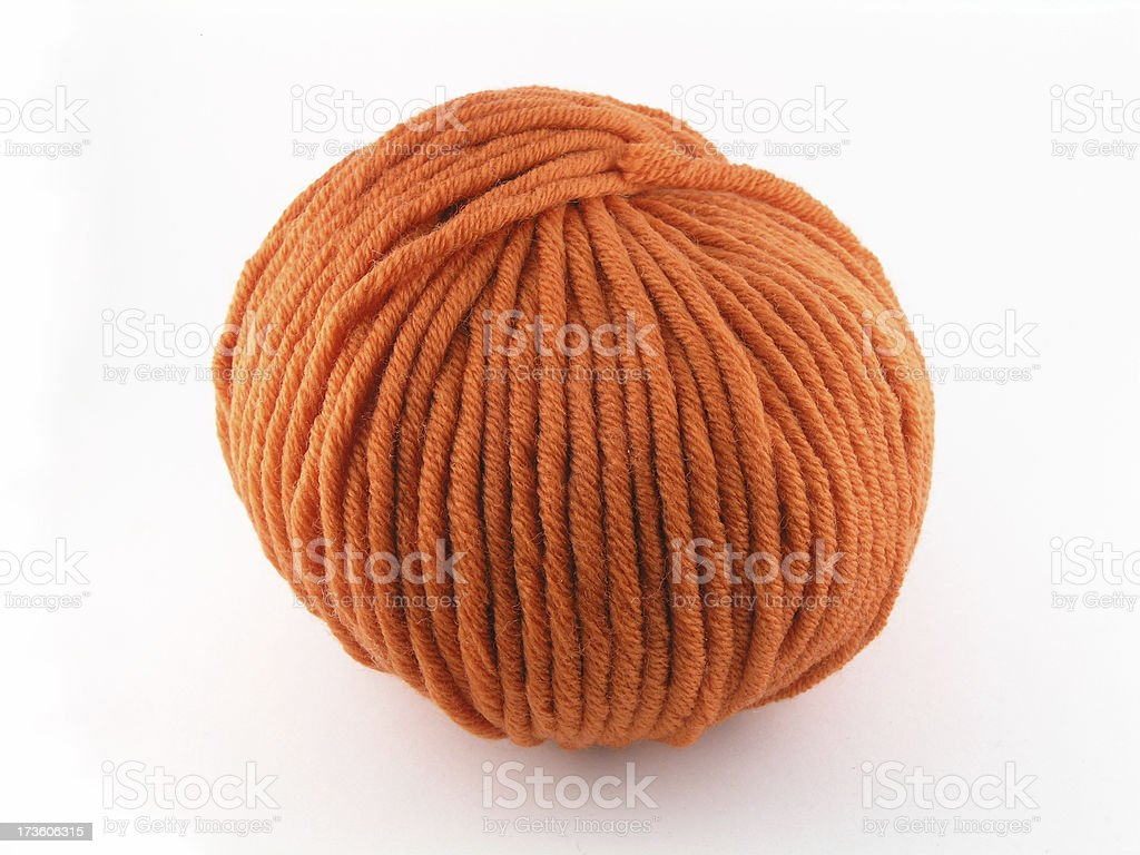 Wool (with clipping path) royalty-free stock photo
