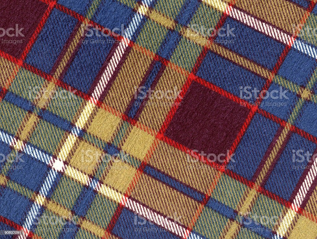 Wool Plaid Fabric royalty-free stock photo