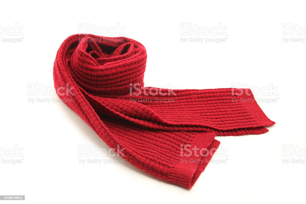 Wool Red Scarf - foto de stock