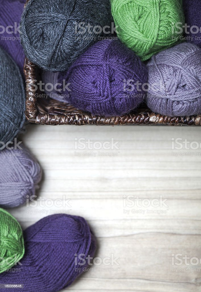 Wool Skanes in the Basket royalty-free stock photo