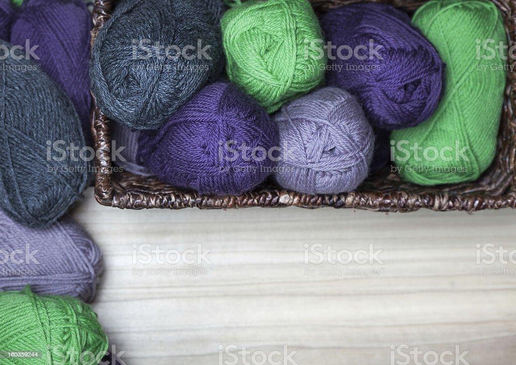 Wool Skanes in the Basket royalty-free stock photo