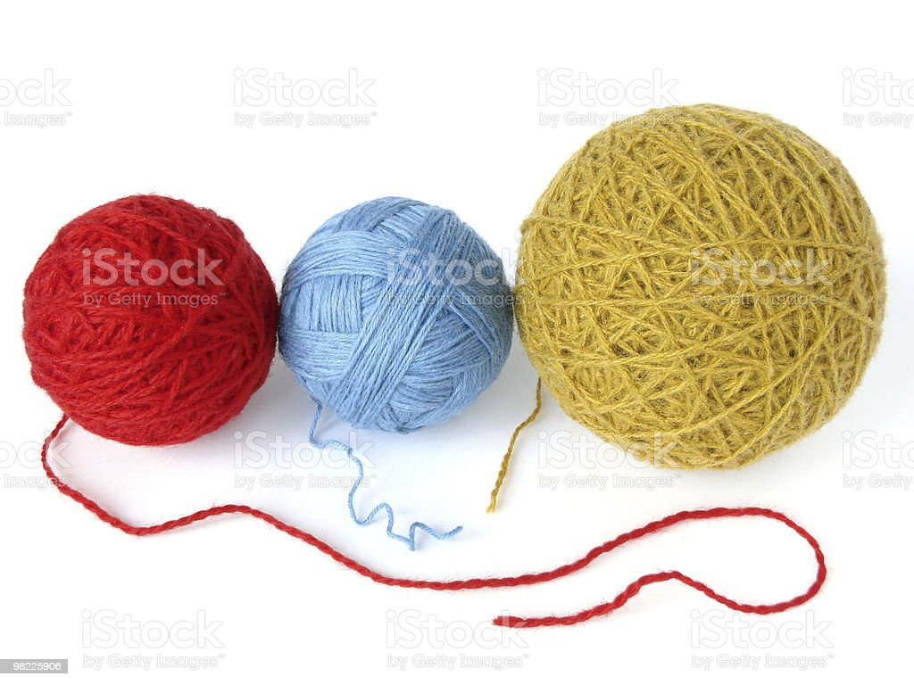 wool skeins royalty-free stock photo