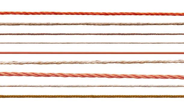 wool string rope cord cable line - gerade stock-fotos und bilder
