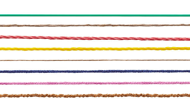 wool string rope cord cable line - string stock photos and pictures