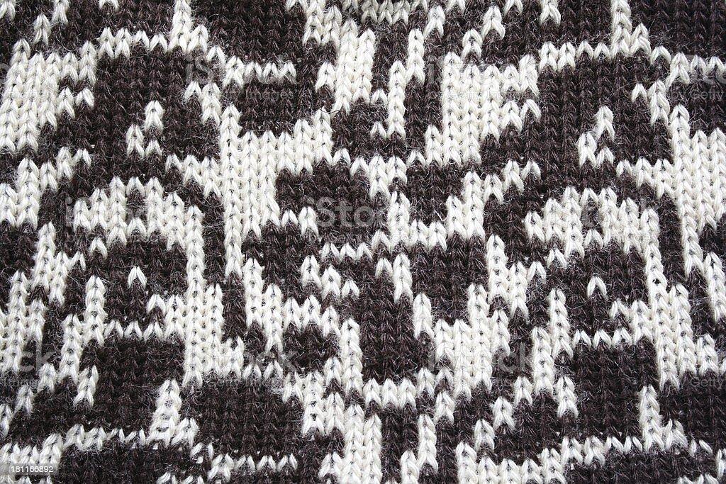 Wool sweater pattern royalty-free stock photo