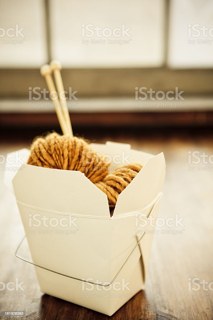 Wool Takeout royalty-free stock photo