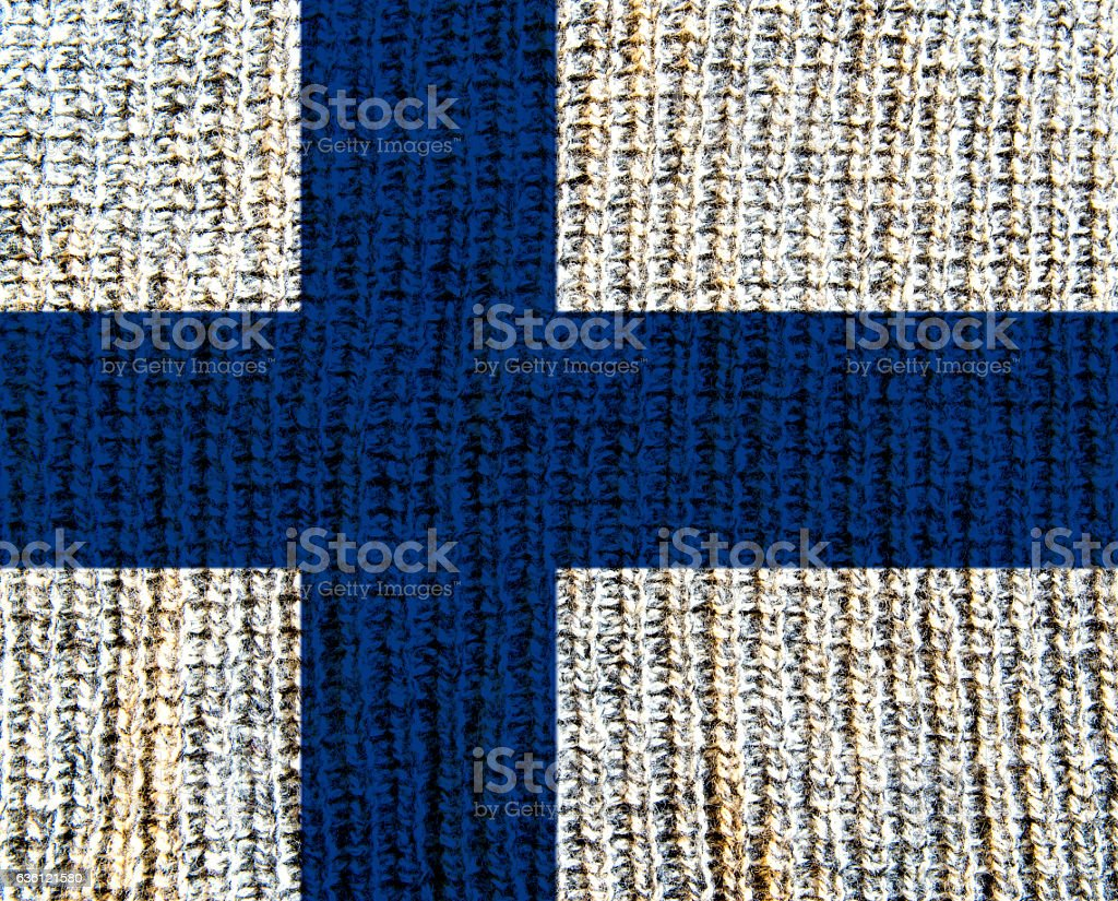 Wool Textured Flag -  Finland stock photo