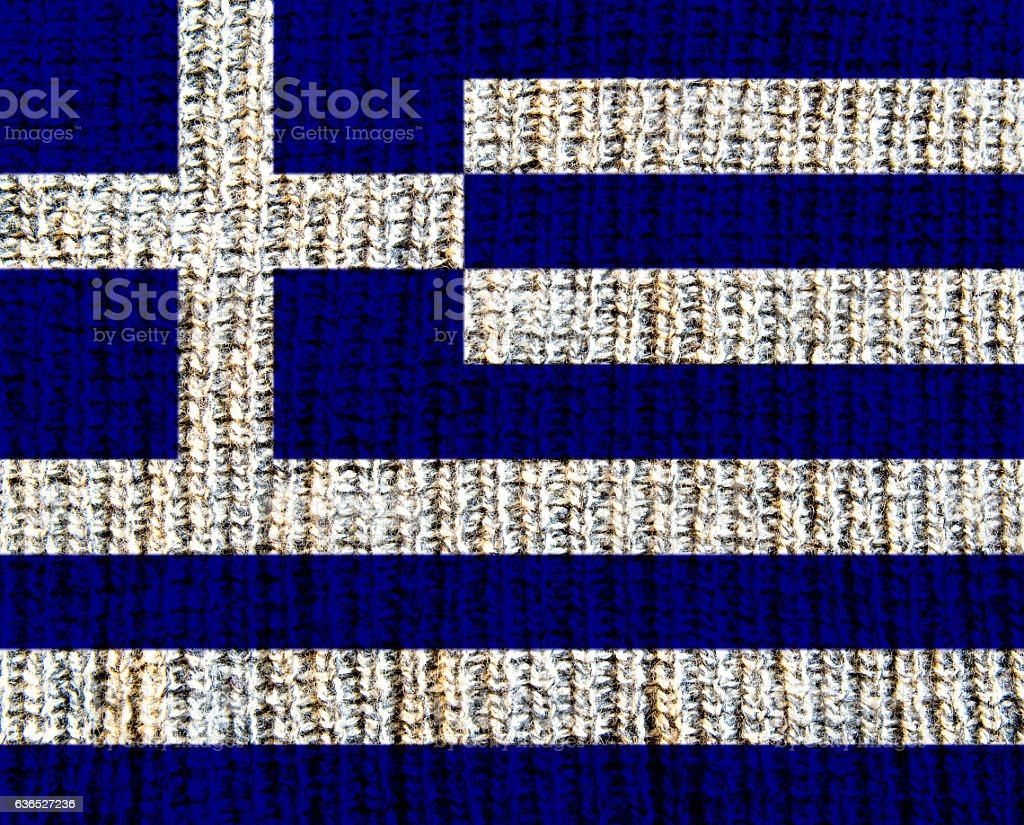 Wool Textured Flag -  Greece stock photo