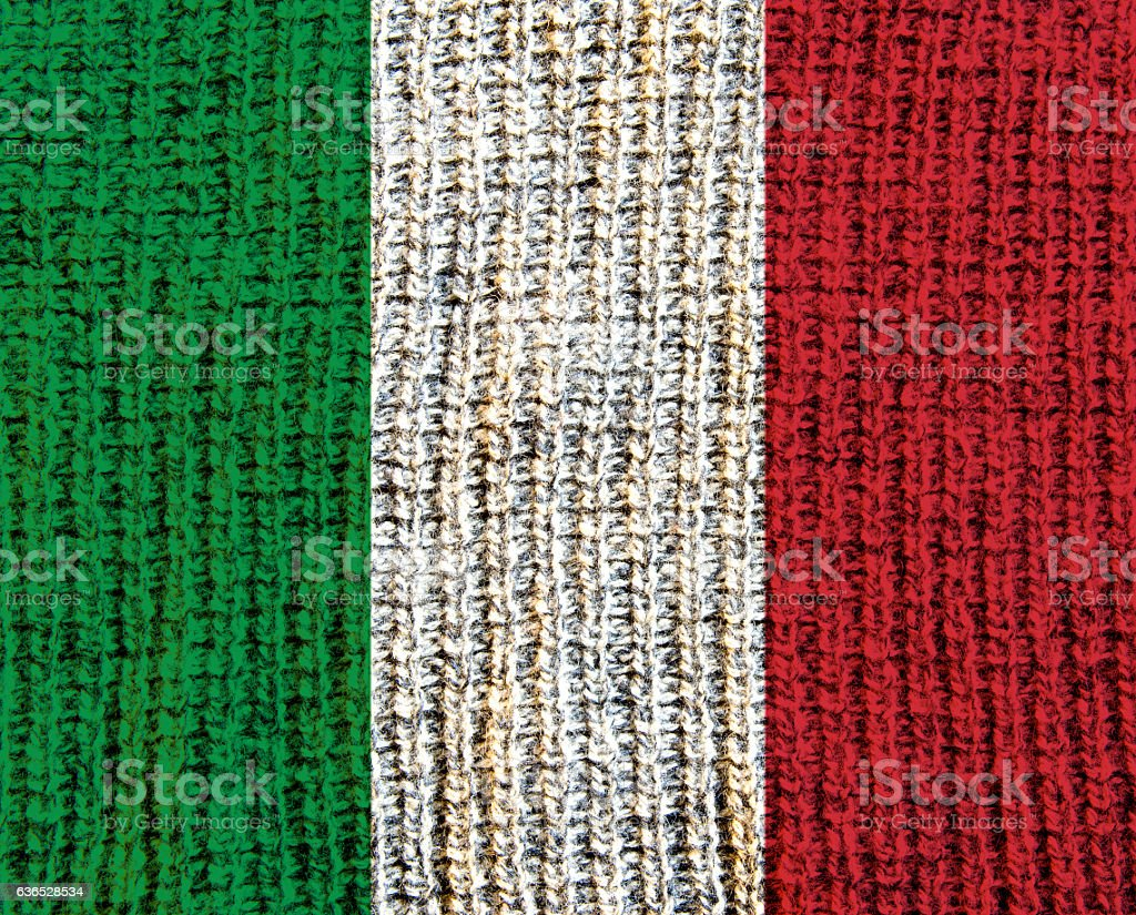 Wool Textured Flag -  Italy stock photo