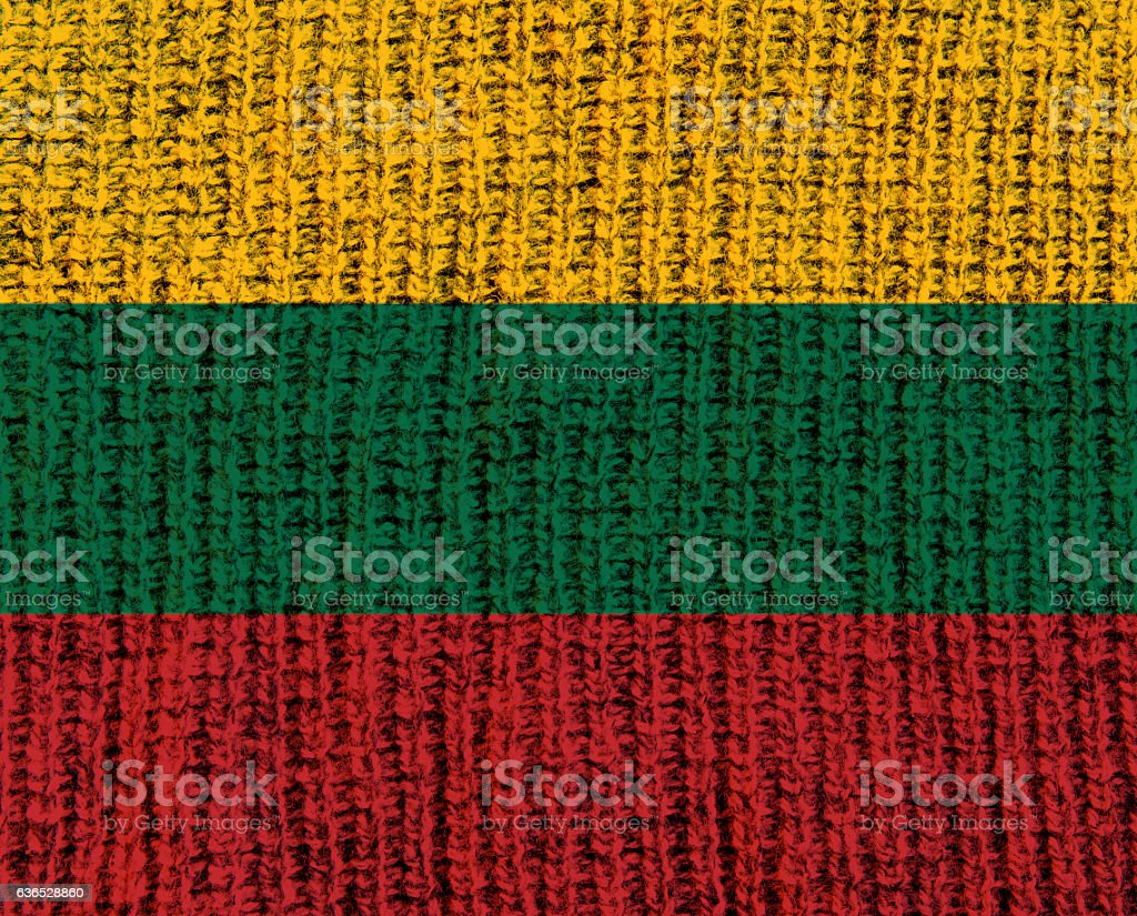 Wool Textured Flag - Lithuania stock photo