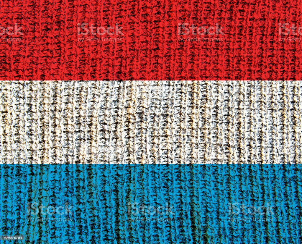 Wool Textured Flag -  Luxembourg stock photo