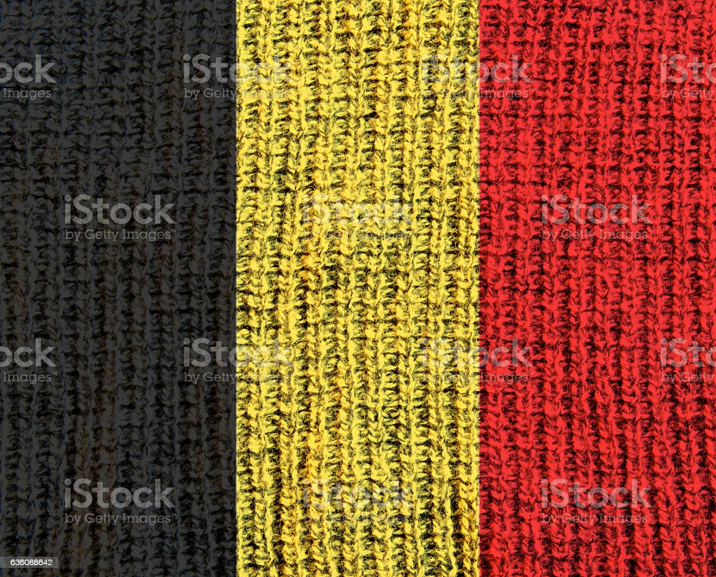 Wool Textured Flag - stock photo