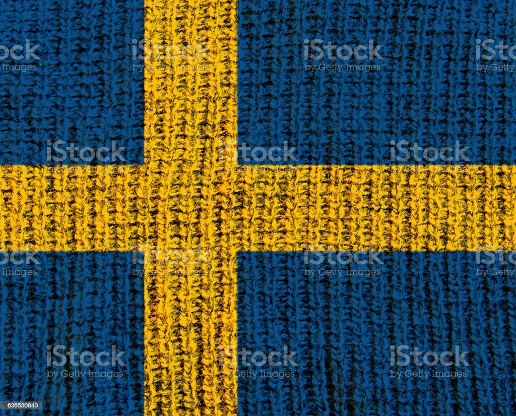 Wool Textured Flag -  Sweden stock photo