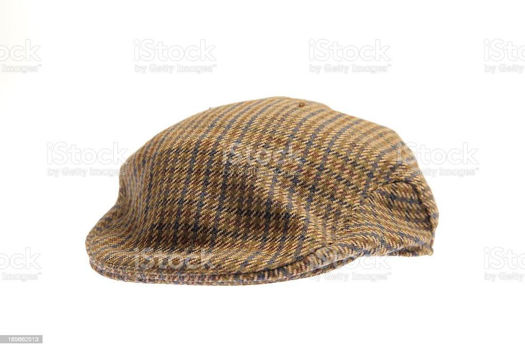 Wool tweed gentlemen's cap stock photo