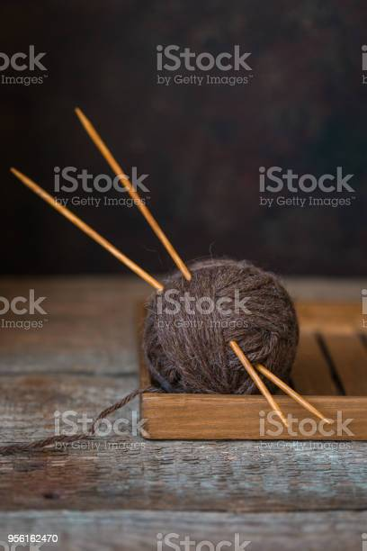 Wool yarn with wooden needles on a rustic background autumn wabi sabi picture id956162470?b=1&k=6&m=956162470&s=612x612&h=zp igiqqieywp8educowh0g8owlkb9cscbpycrqc0pw=
