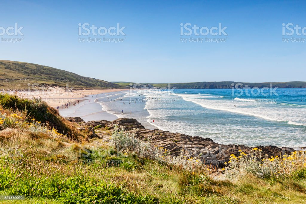 Woolacombe North Devon UK stock photo