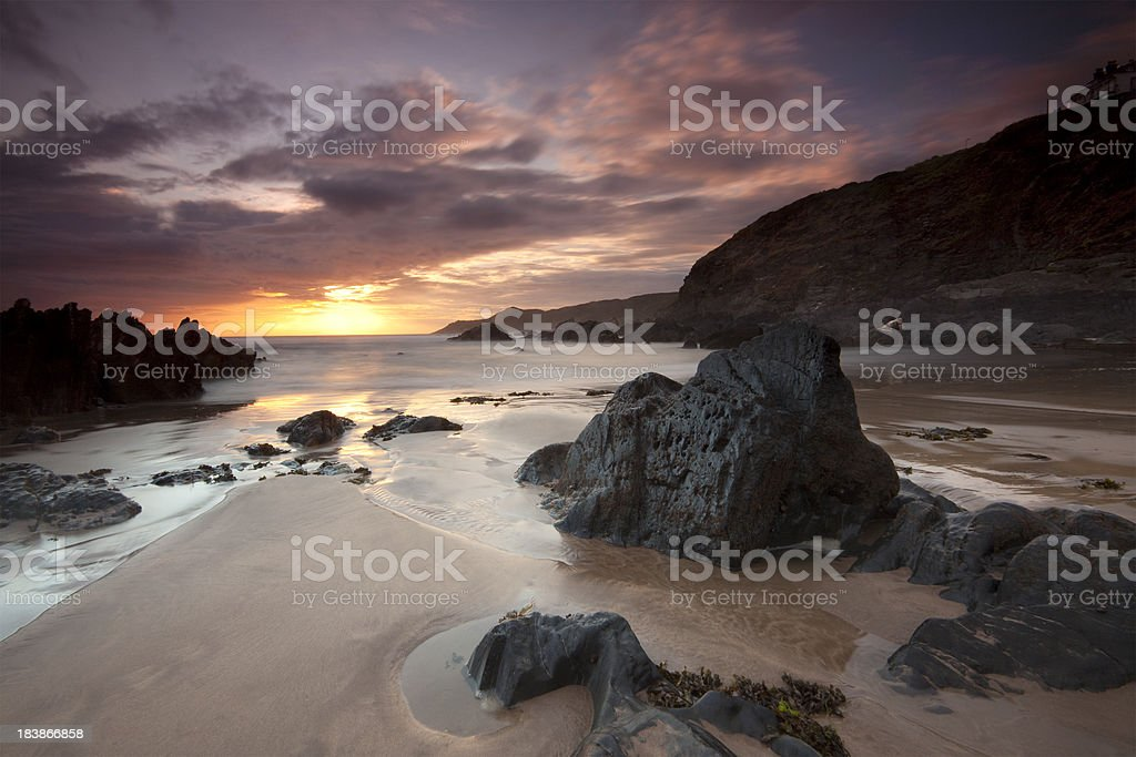 Woolacombe Sunset stock photo