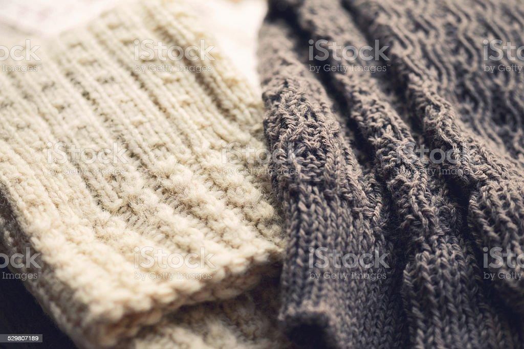 woolen clothing stock photo