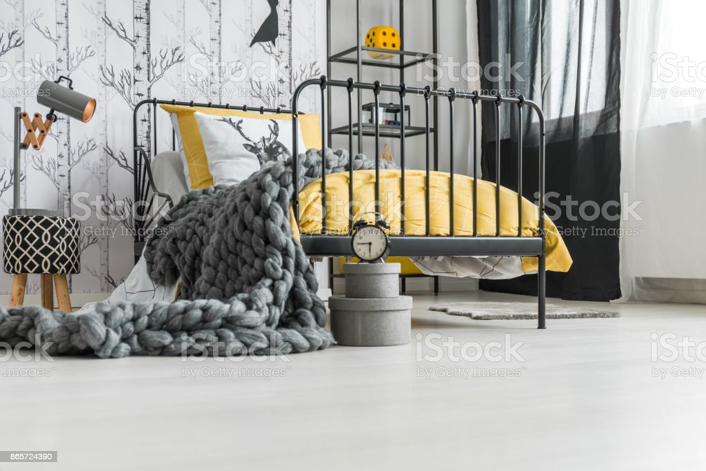 Woolen handmade blanket stock photo