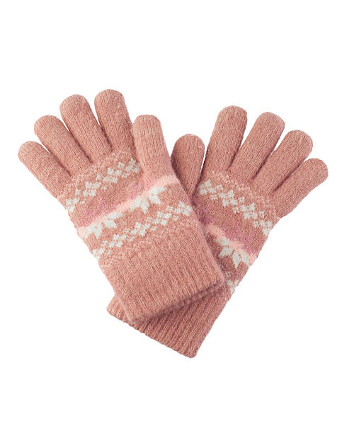 woolen knitted gloves stock photo