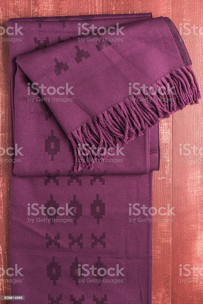 Woolen soft and worm scarf stock photo