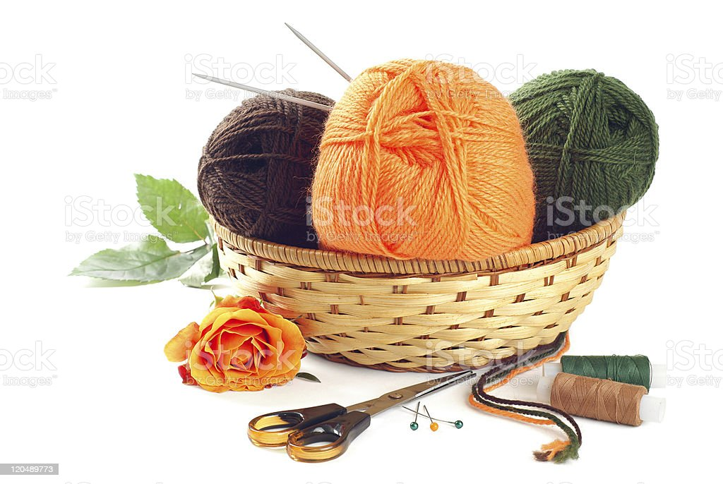 Woolen yarn royalty-free stock photo