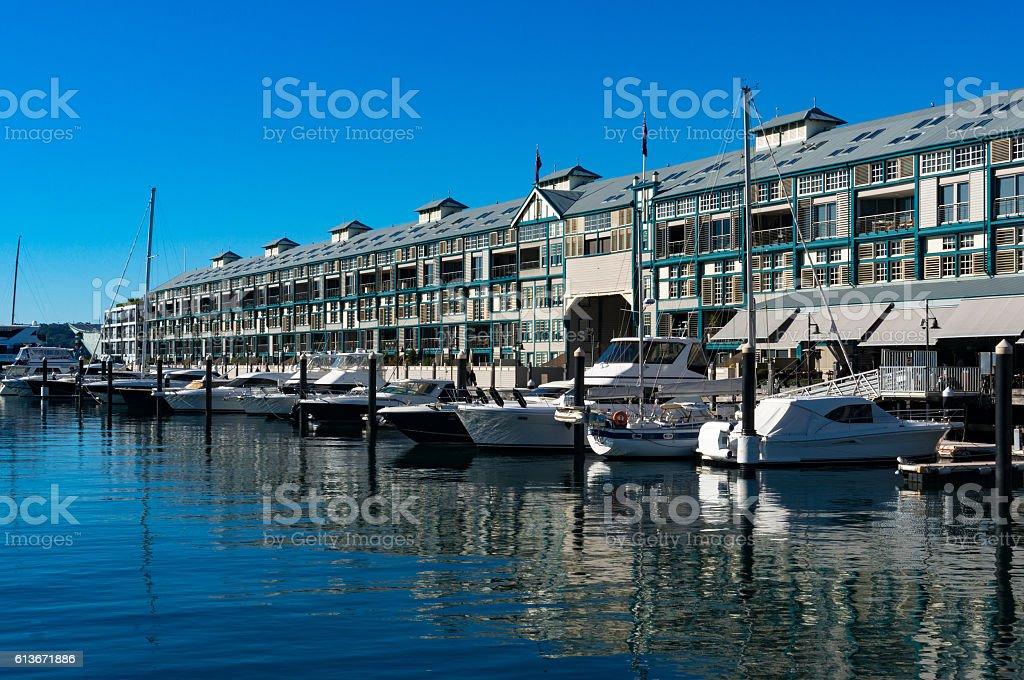 Woolloomooloo bay with historic Finger wharf – Foto