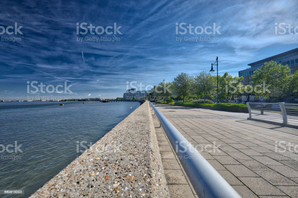 Woolwich Arsenal riverfront royalty-free stock photo