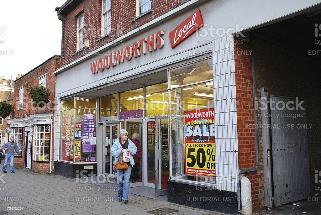 Woolworths store, England stock photo