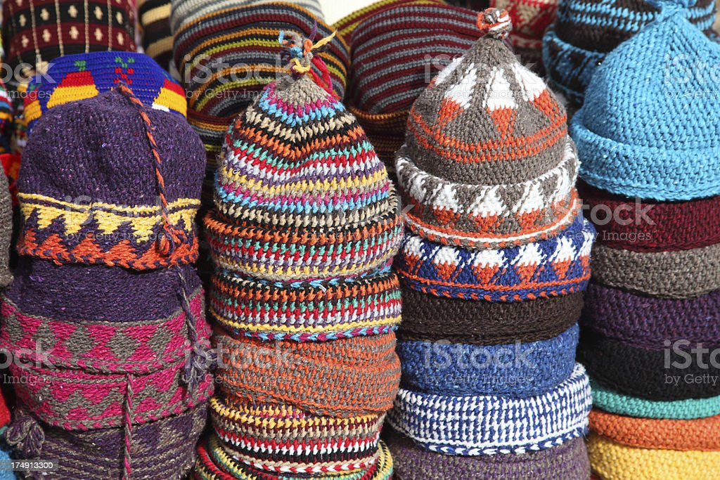 Wooly hats royalty-free stock photo