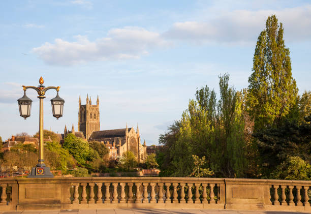 Worcester Cathedral UK stock photo