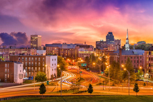 Worcester, Massachusetts, USA Worcester, Massachusetts, USA downtown skyline. massachusetts stock pictures, royalty-free photos & images