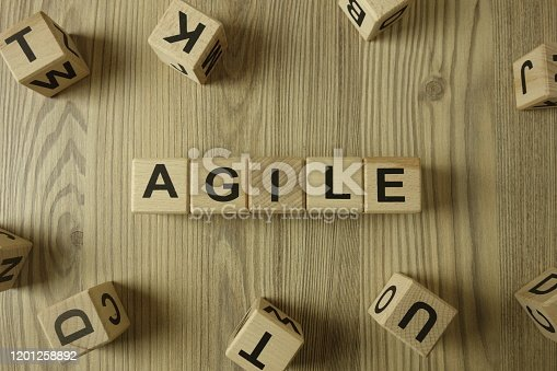 1144568493 istock photo Word agile from wooden blocks 1201258892
