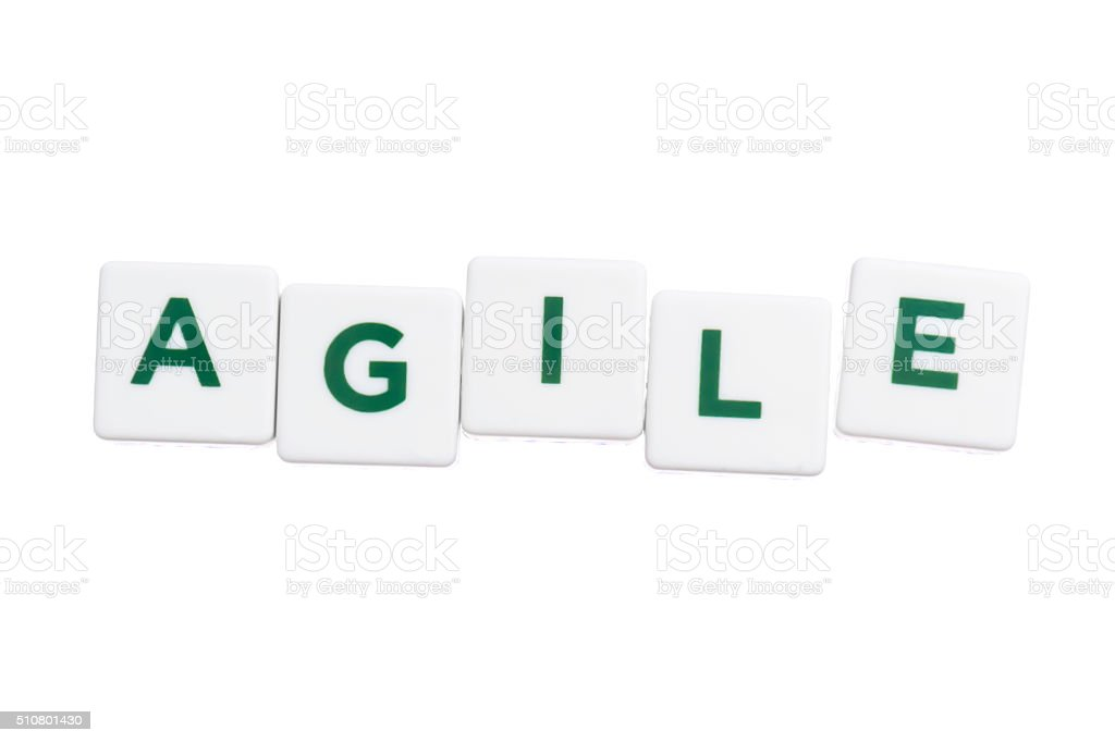 word agile stock photo