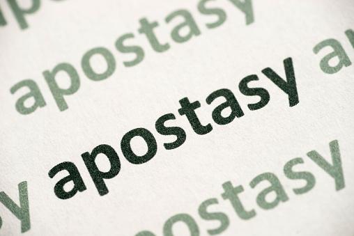 Word Apostasy Printed On Paper Macro Stock Photo - Download Image Now