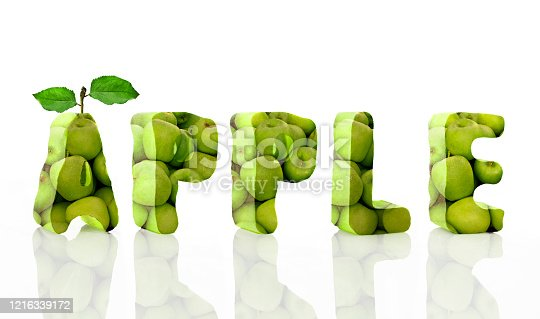istock Word apple from apples 1216339172