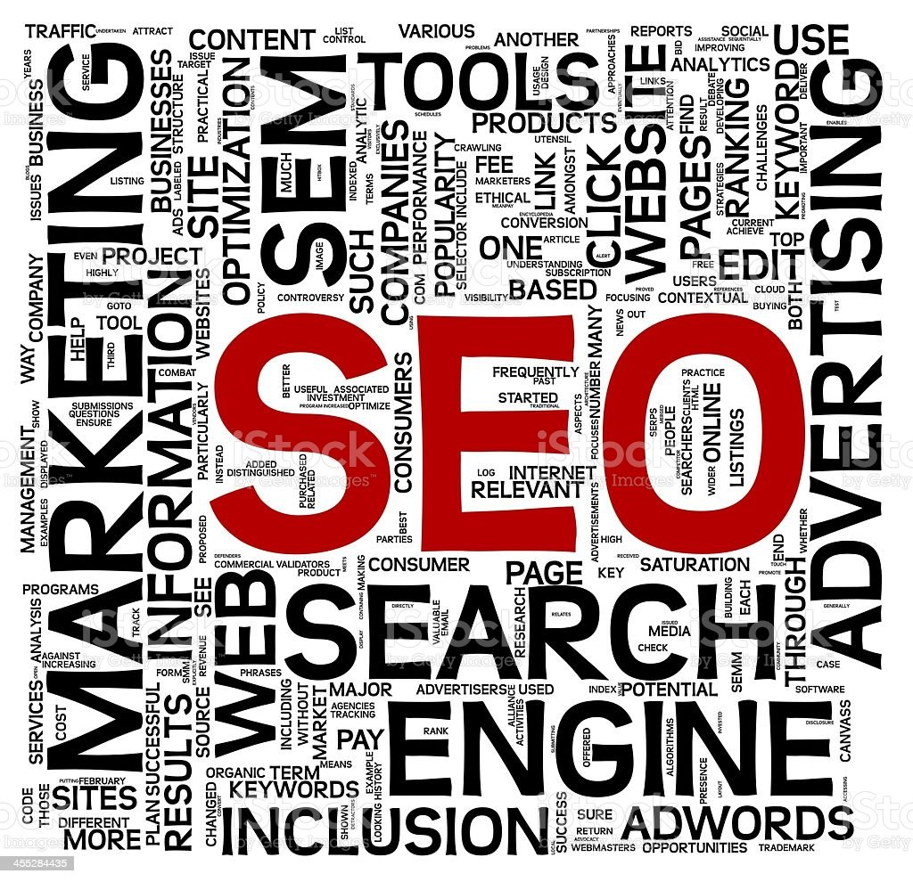 Word art representing search engine optimization  stock photo